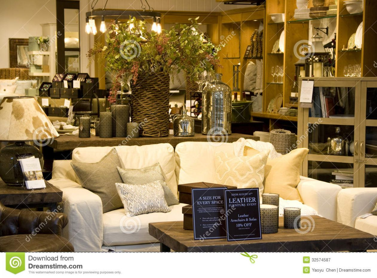 Furniture home decor store editorial photography. Image of design ..