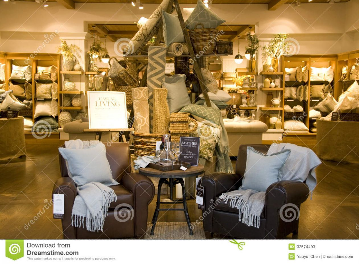 Furniture home decor store editorial stock photo. Image of designs ..