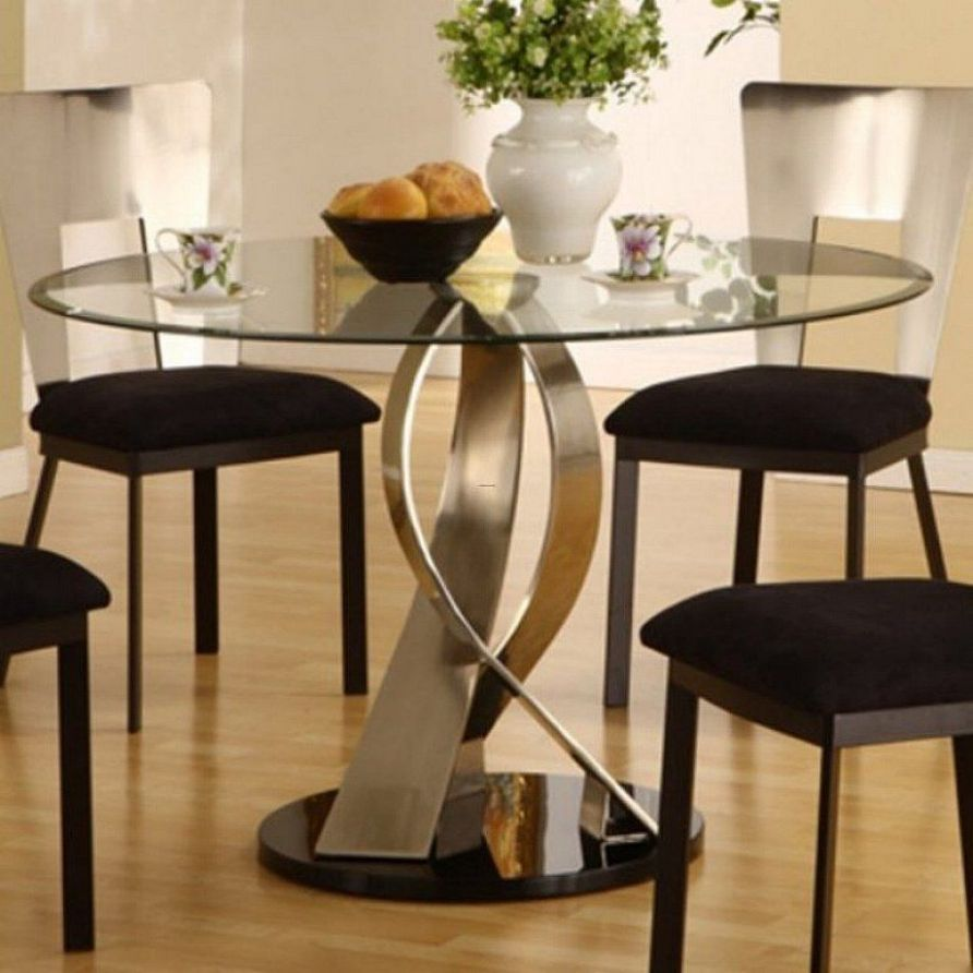 Furniture remarkable-artistic-round-glass-top-dining-table-design ...