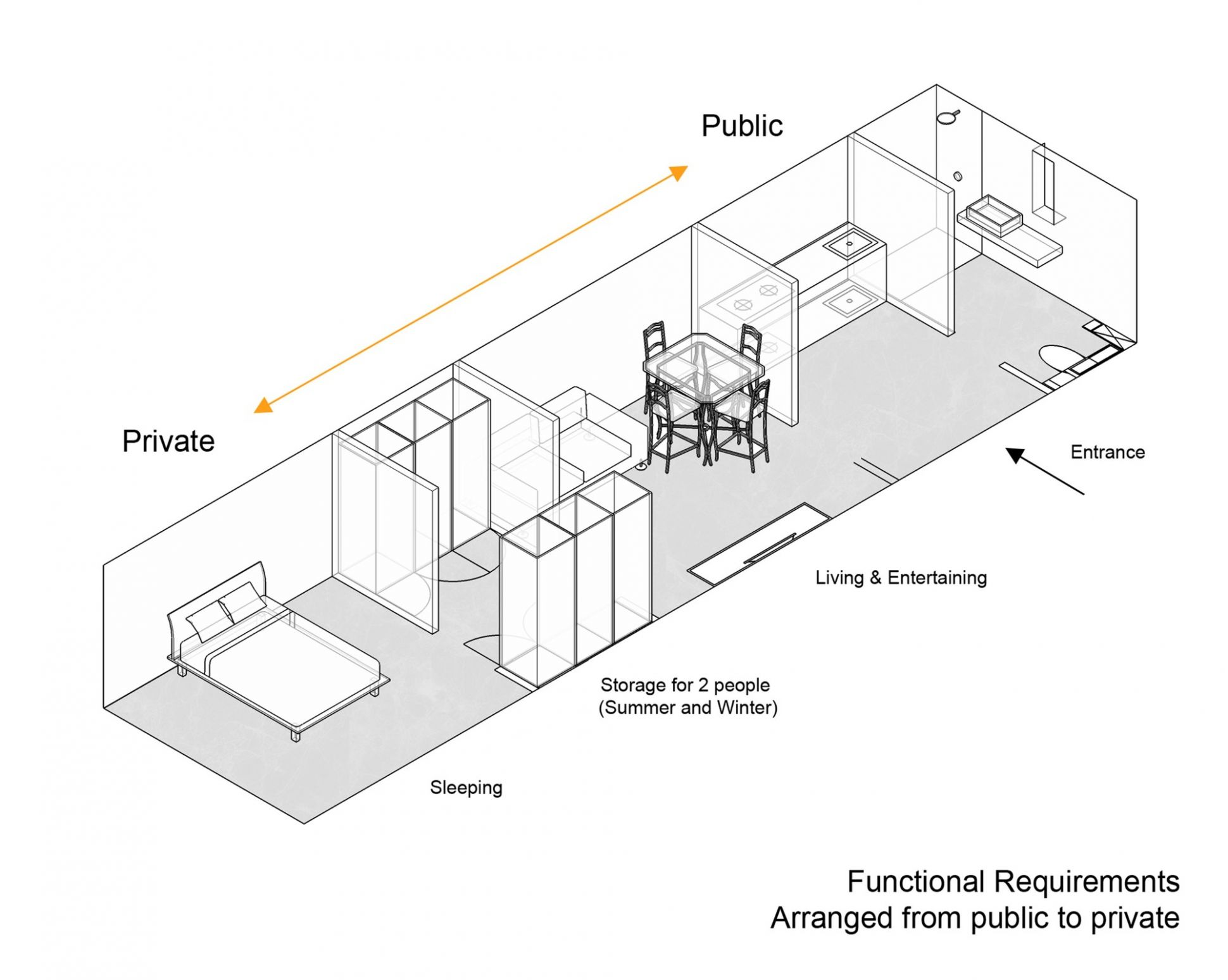 Gallery of The Folded Apartment / More Design Office - 12 - apartment design requirements
