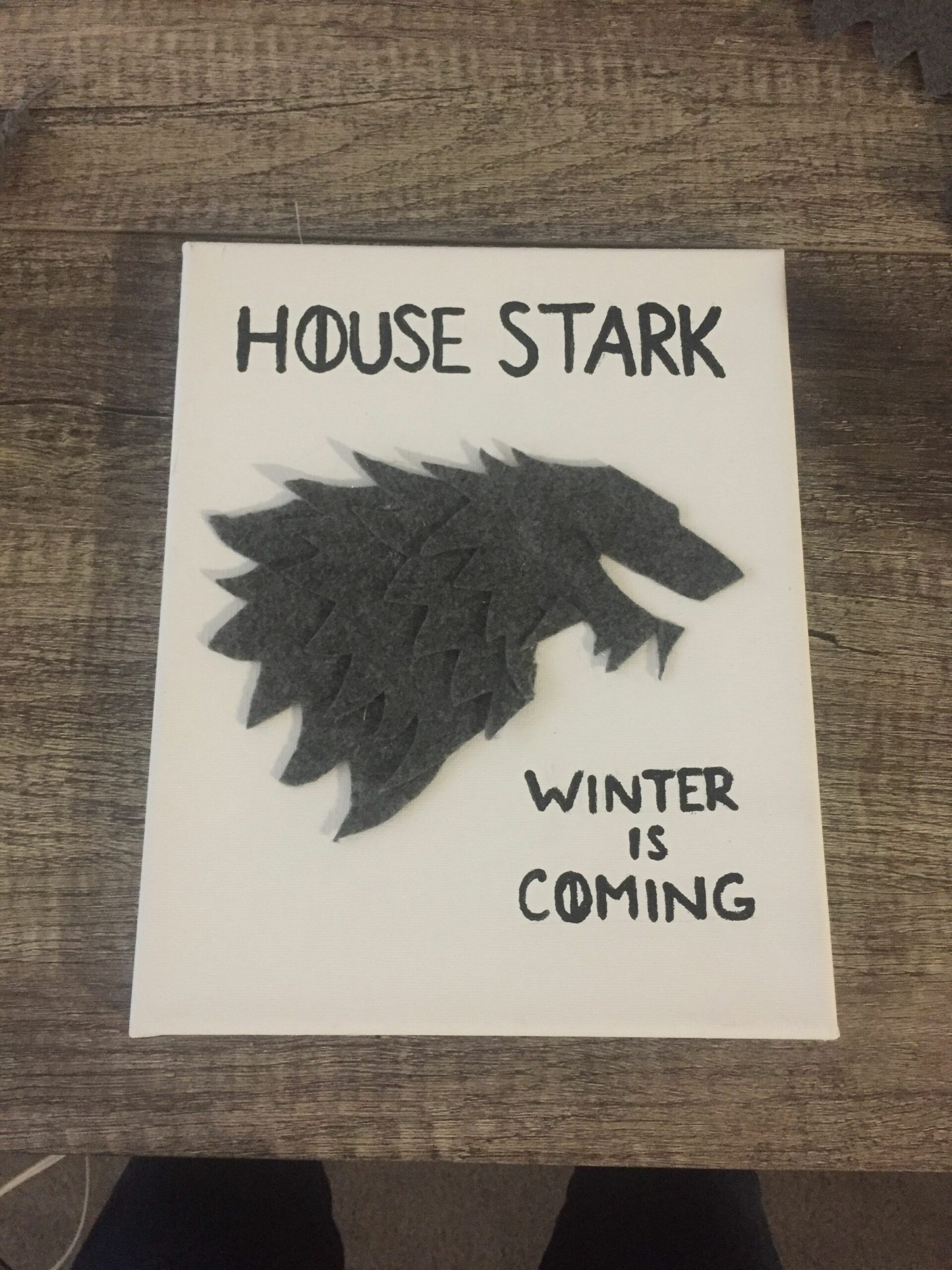 Game of thrones inspired wall art (With images) | House stark ...