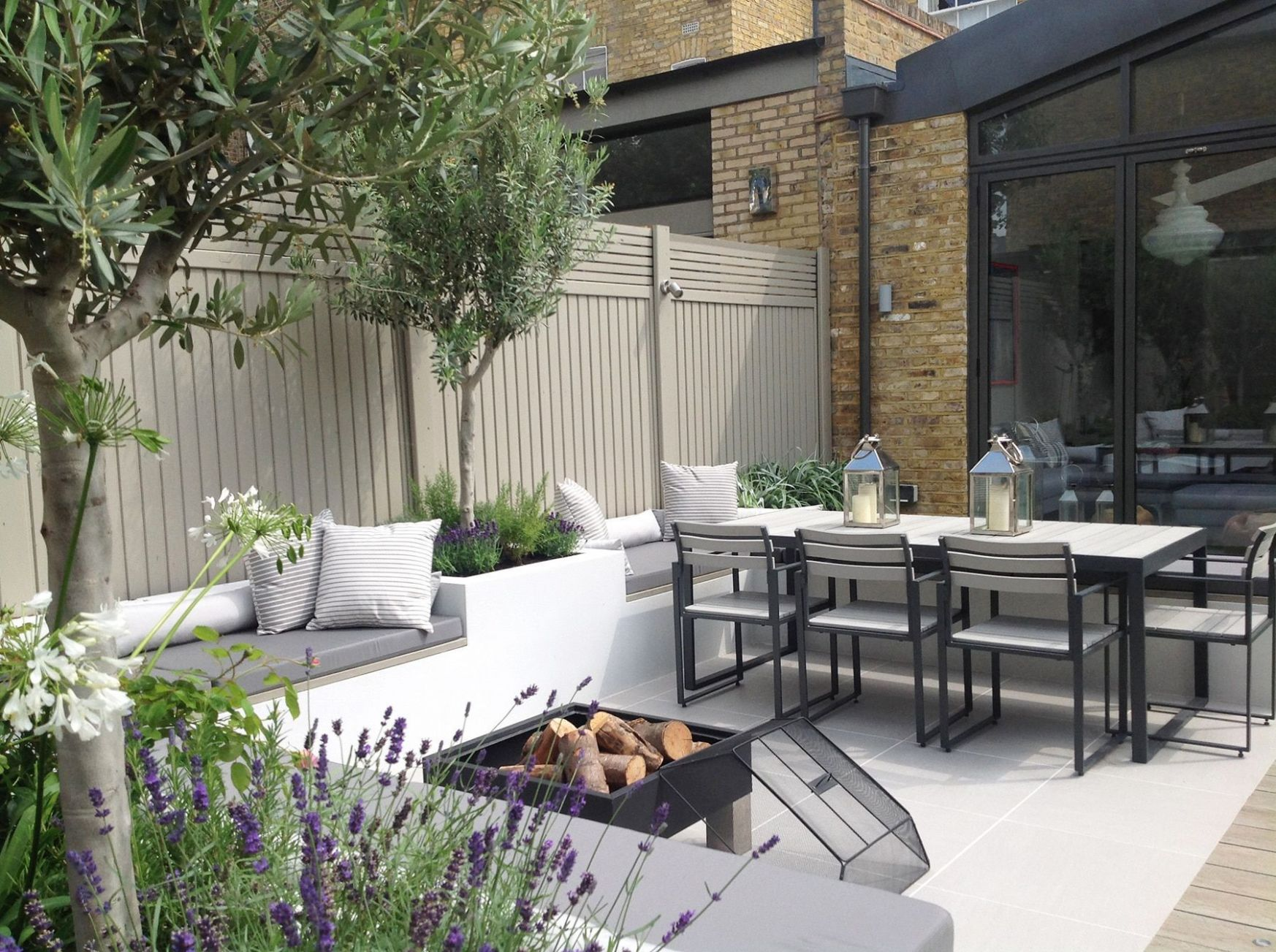 garden design for seating area with firepit (With images) | Garden ..