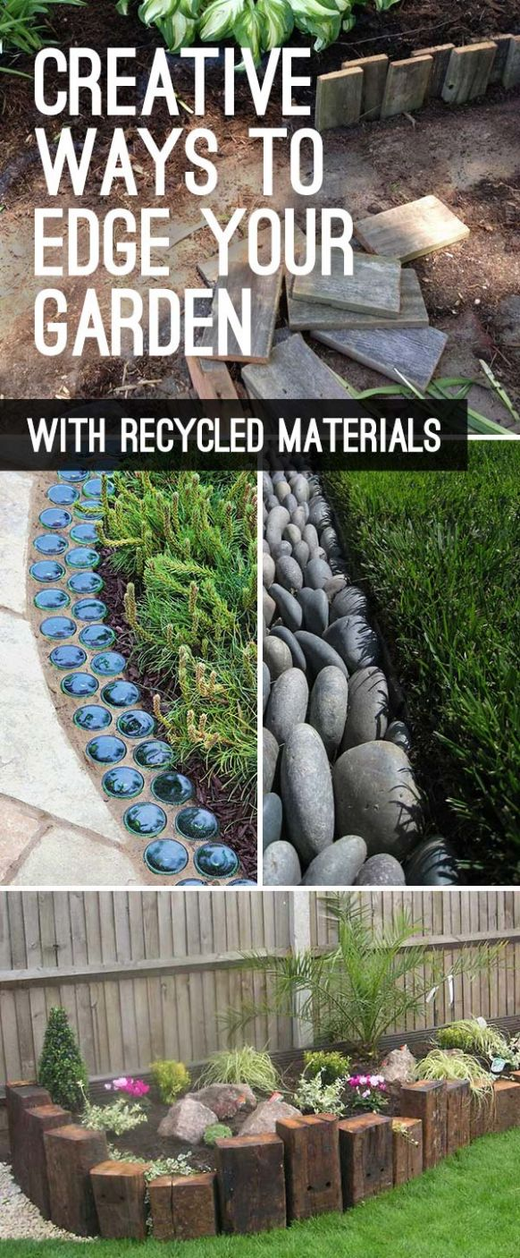 Garden Edging: Landscape Edging Ideas with Recycled Materials ...