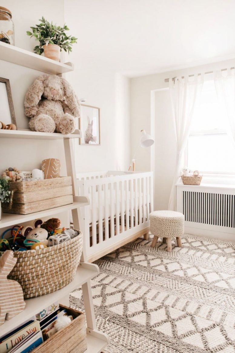 Gender Neutral Nursery - baby nursery inspiration | HappyShappy