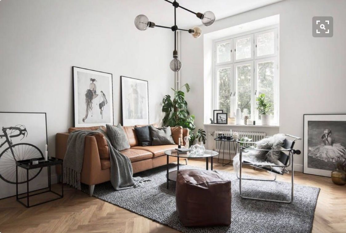 Get The Look: 11 ways to style a tan leather sofa (alphabet ..