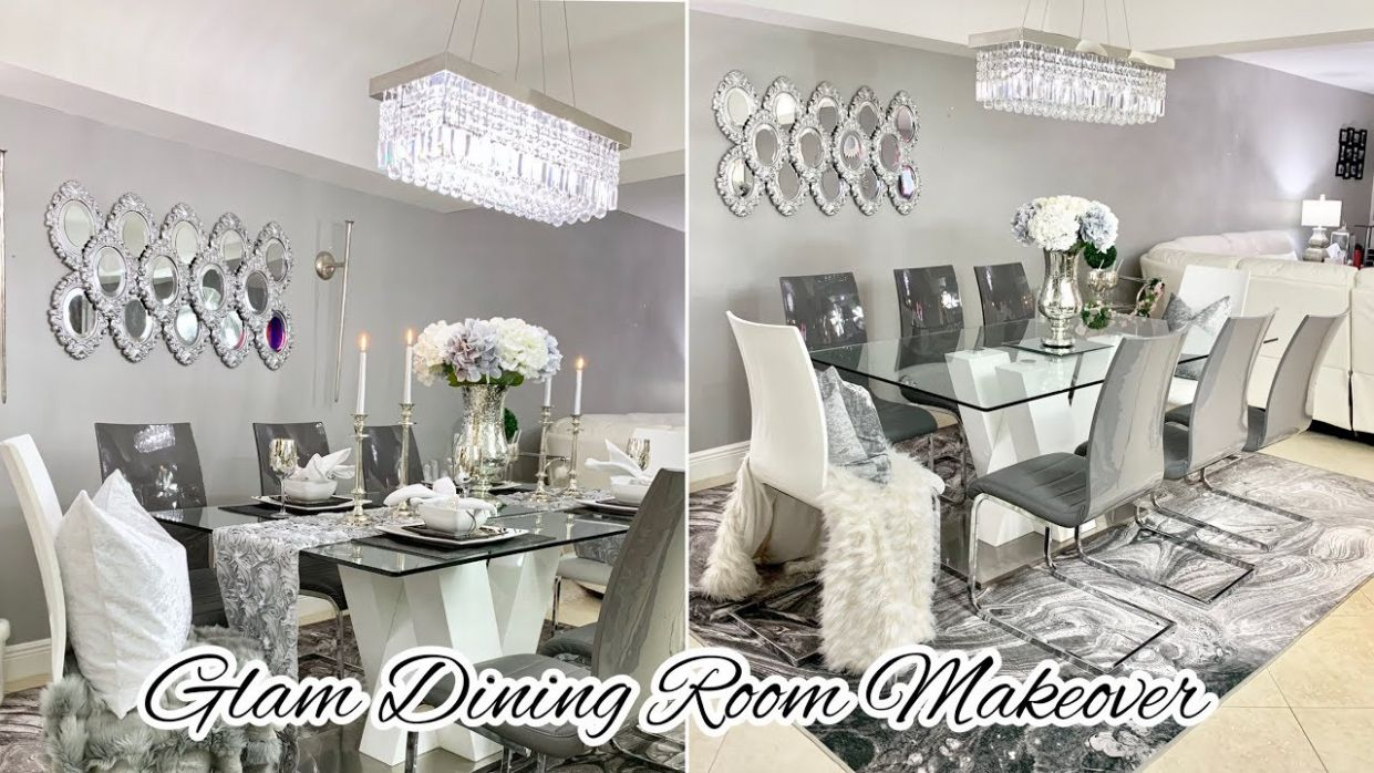GLAM DINING ROOM DECORATING IDEAS MAKEOVER 12