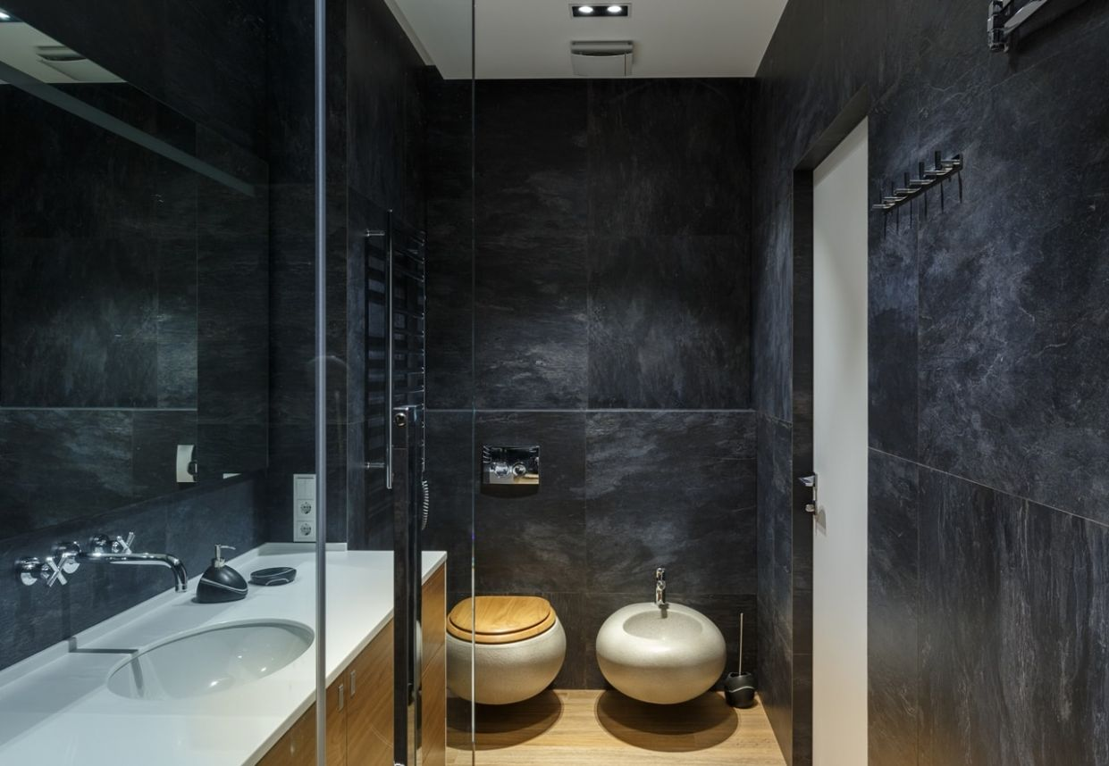 Glass Bathroom Walls In Modern Apartment By SVOYA - featured on ..