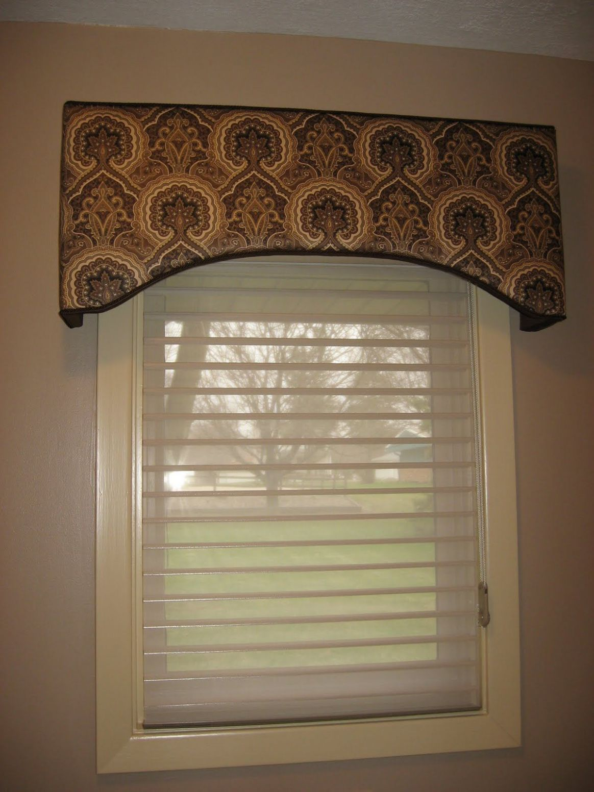 Gorgeous Custom Patterned Cornice with Shades Creations finest ..