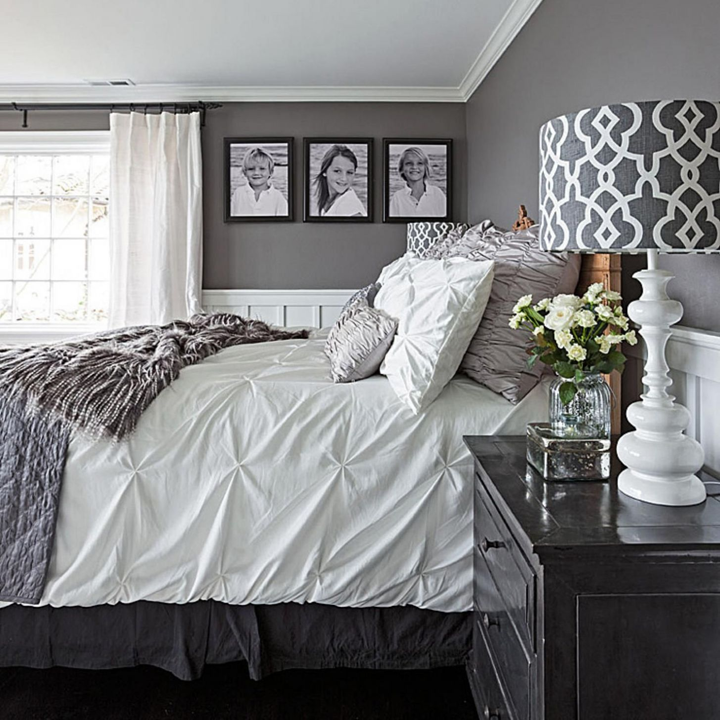 Gorgeous Gray-and-White Bedrooms | Remodel bedroom, Master ..