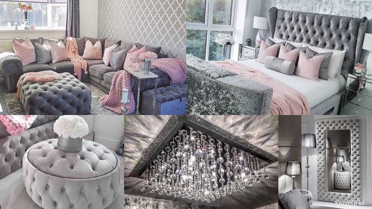 GRAY GLAM & GIRLY ROOMS | APARTMENT & HOME DECOR INSPIRATION & IDEAS | PINK  TOUR | INSTAGRAM 10 - apartment living room ideas gray
