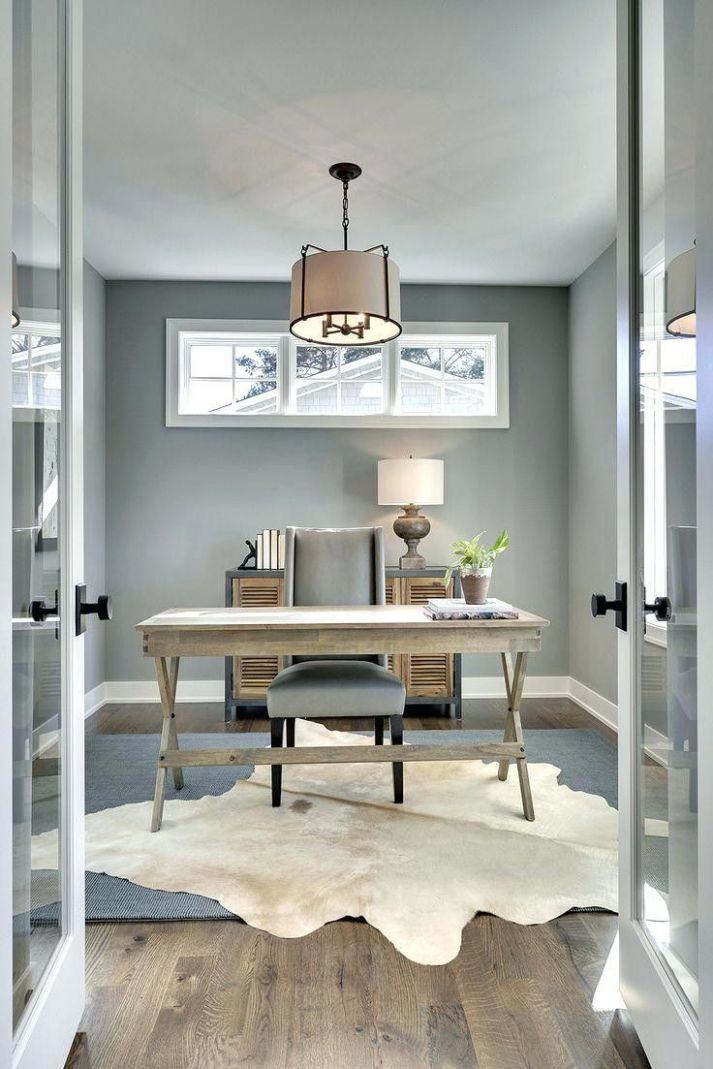 Gray home offices image by Danielle Schafhirt on Office ideas ...