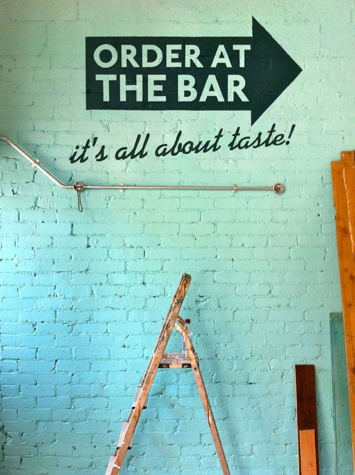 Great idea for wall lettering! (With images) | Cafe wall art ...