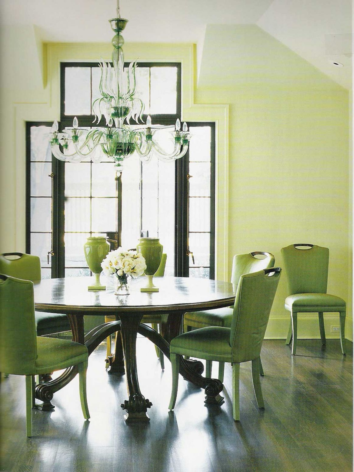 green dining room | Decoration Designs Guide - dining room ideas green