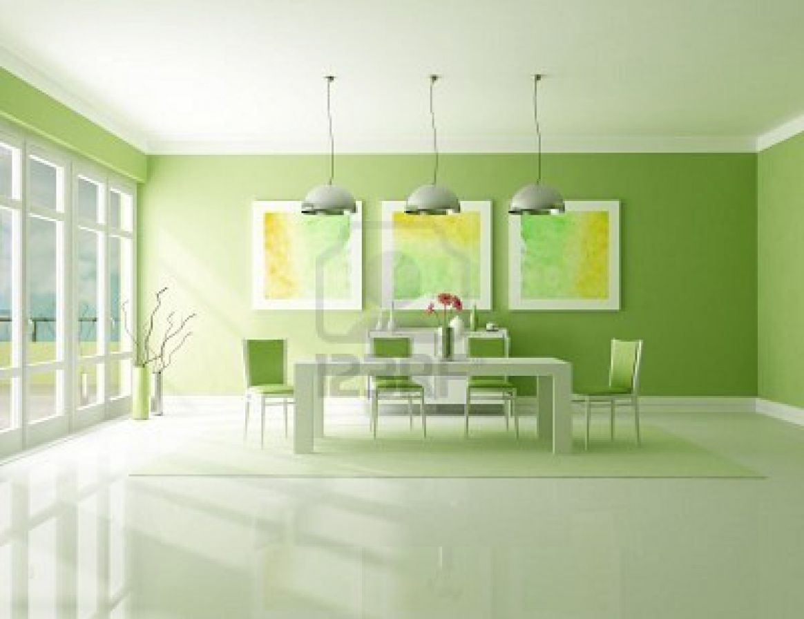 green dining room | Decoration Designs Guide