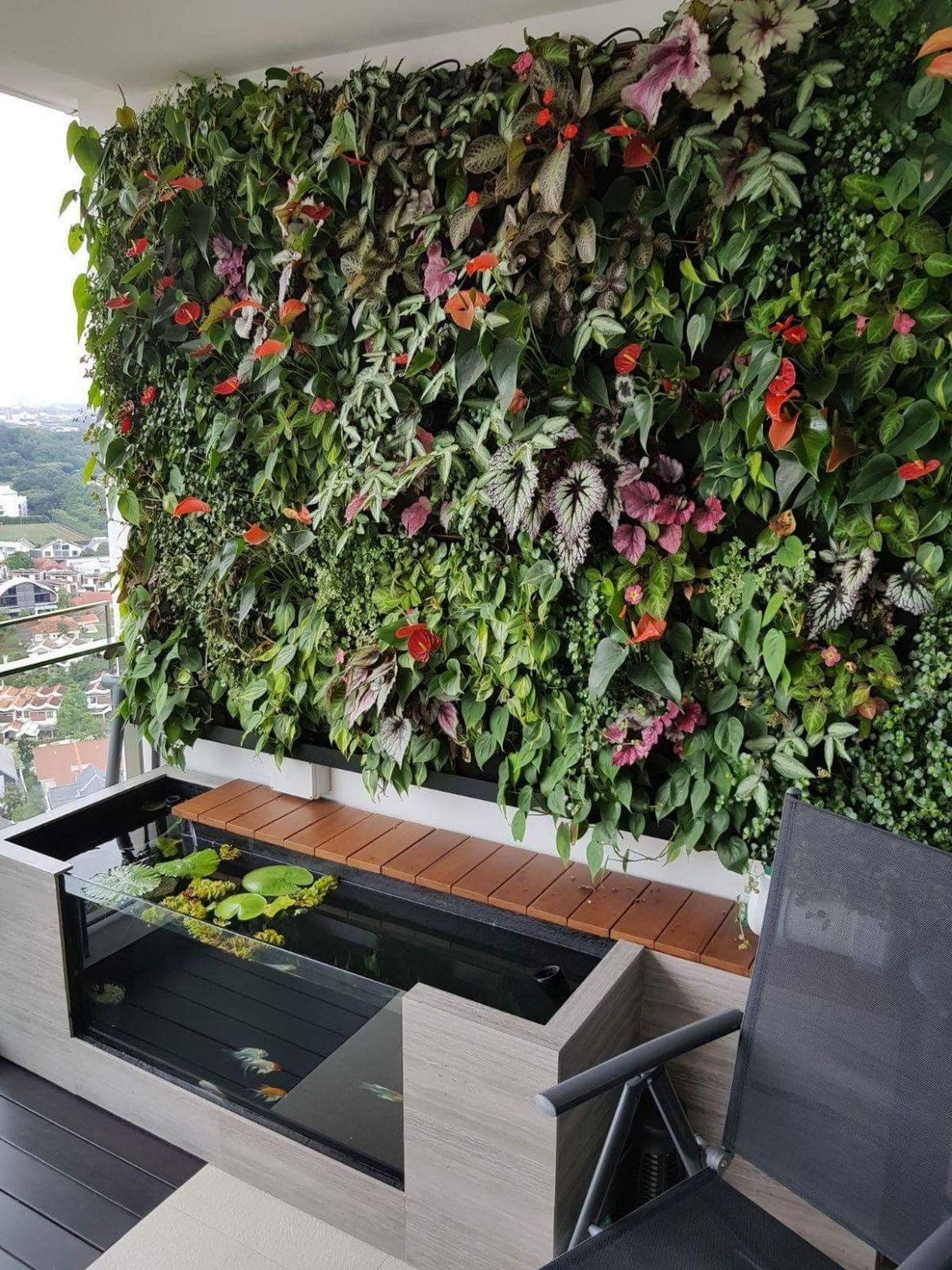 Green wall aquaponics (With images) | Indoor water garden, Ponds ...
