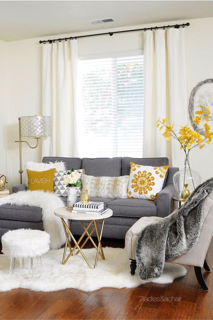 Grey And Mustard Living Room Ideas Yellow Framed Art Kitchen ..