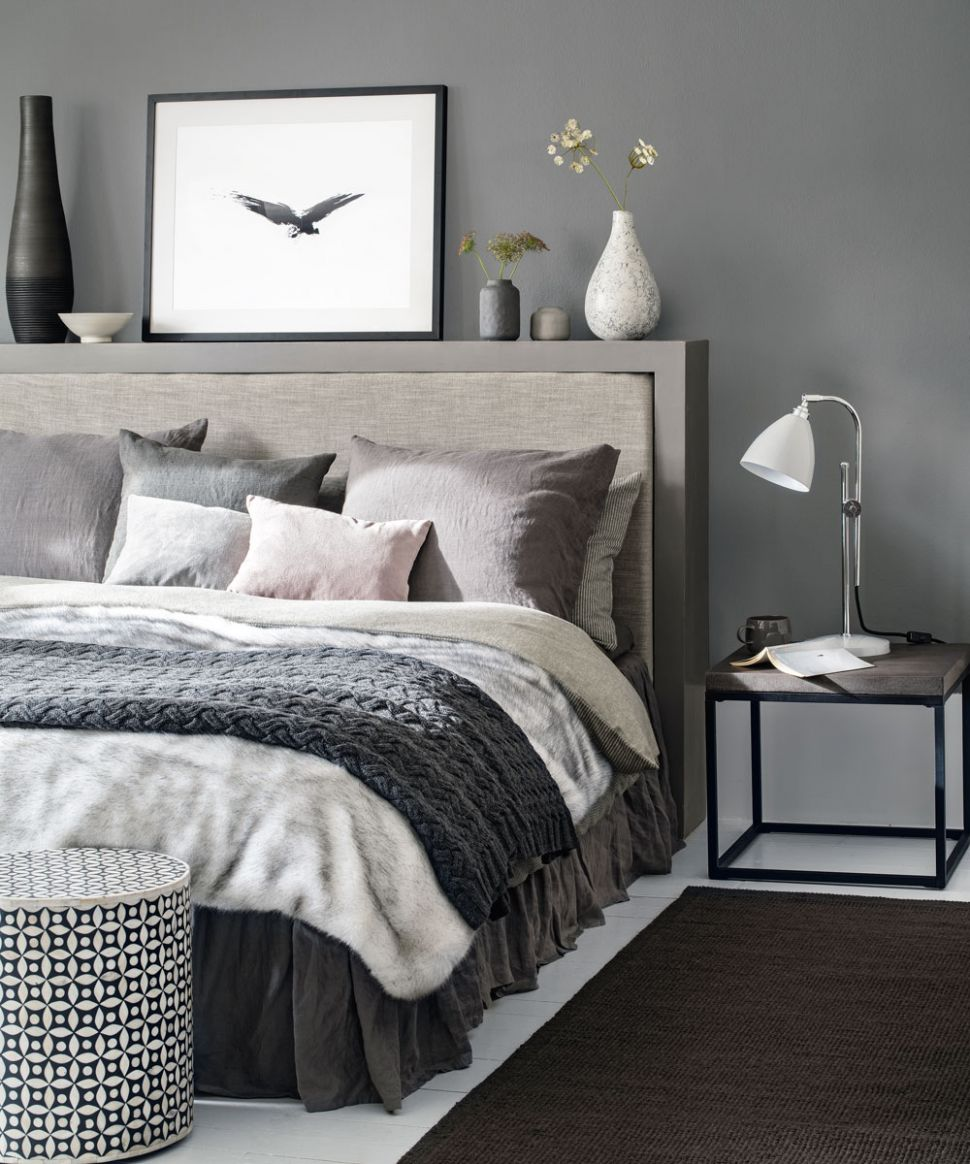 Grey bedroom ideas – grey bedroom decorating – grey colour scheme