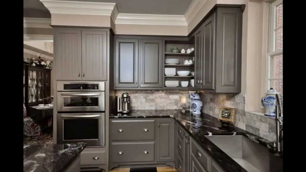 Grey kitchen cabinets - kitchen ideas with grey cabinets