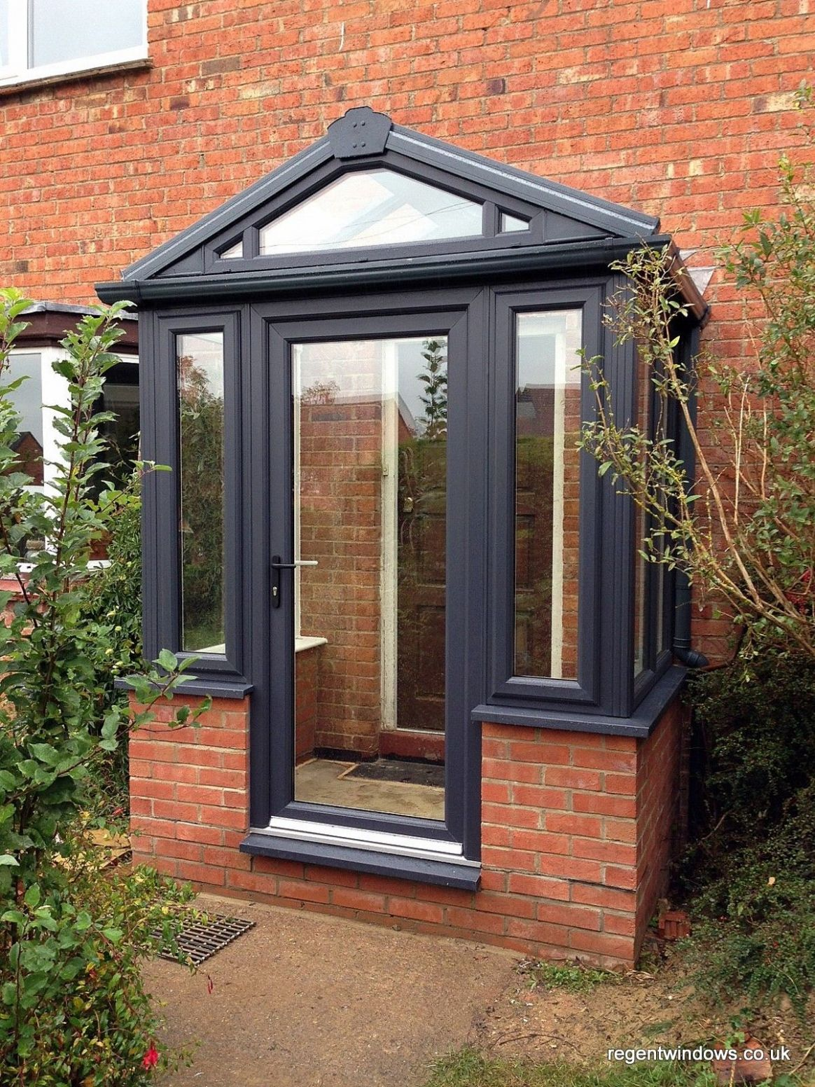 Grey on White upvc Porch classical design … (With images) | Porch ..