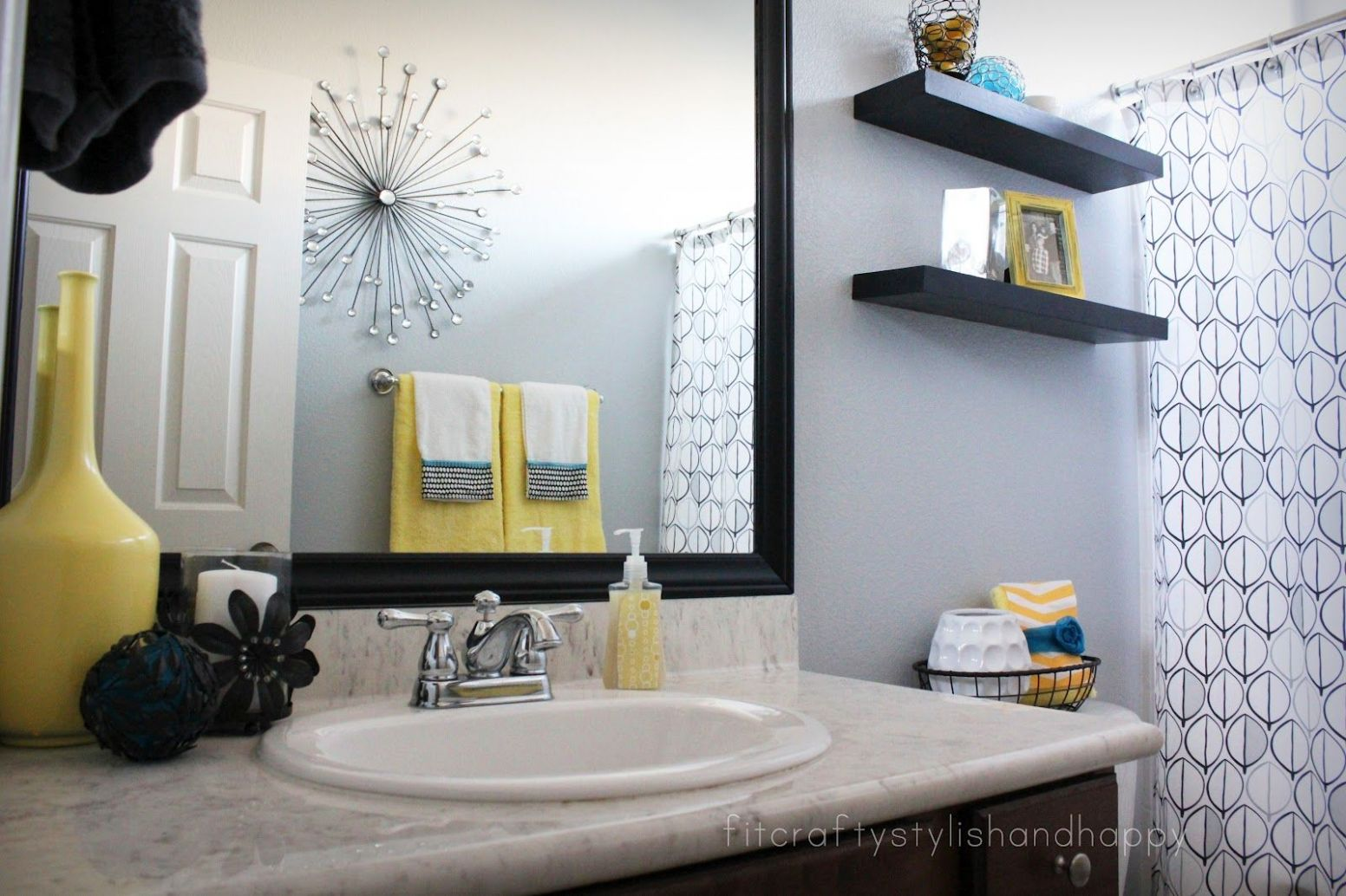 Guest Bathroom Makeover (With images) | Yellow bathroom decor ...
