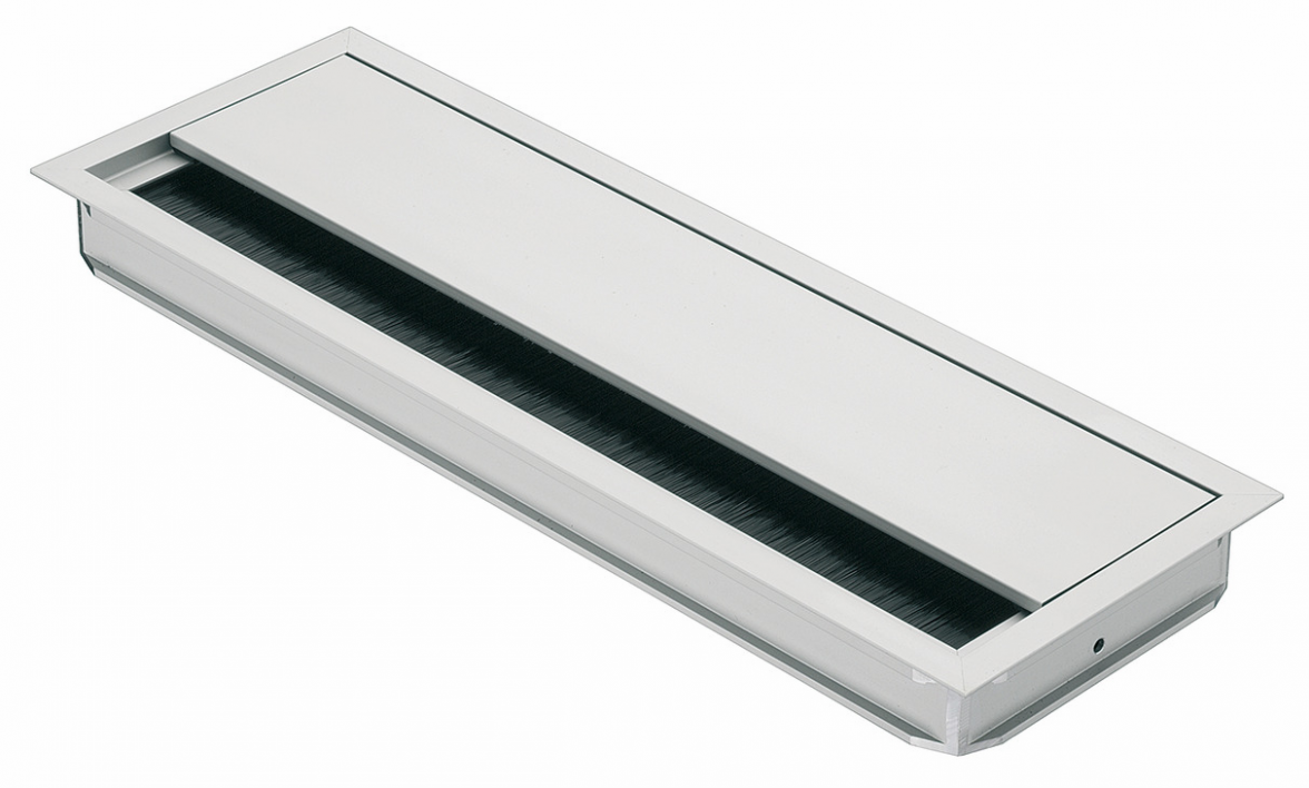 Hafele 11.11.11 Grommet, rectangular 11 x 11mm, with lid and brush