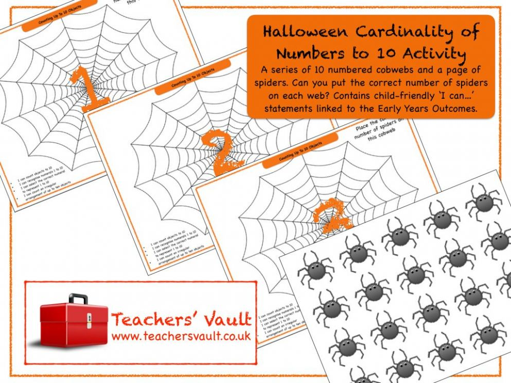 Halloween Cardinality of Numbers to 11 Activity (With images ..