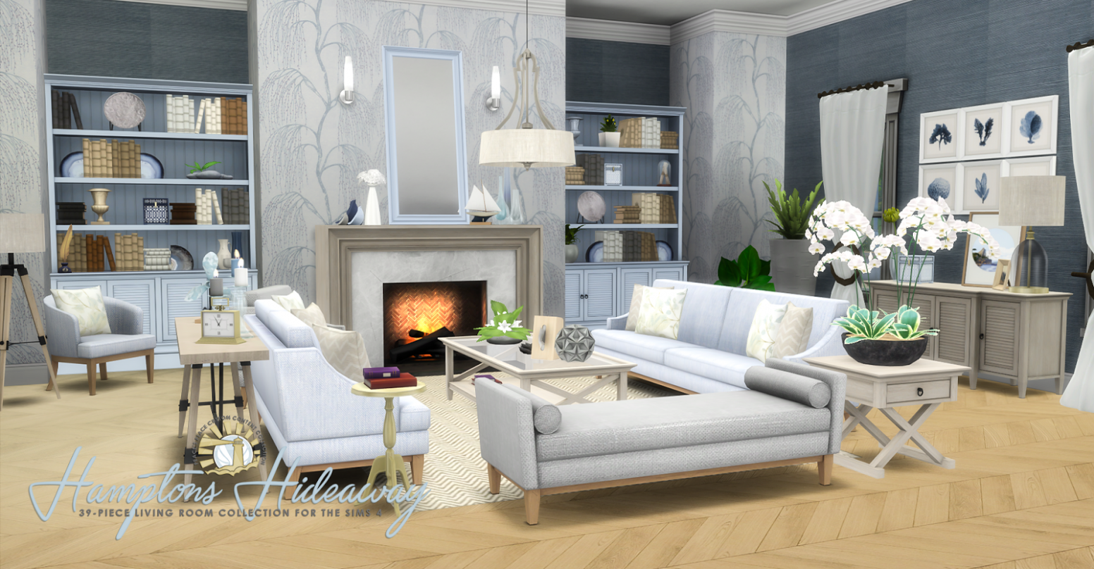 Hamptons Hideaway - Living Room Set for TS9 | Living room sims 9 ..