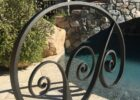 Hand forged iron pool rail (With images) | Pool rails, Pool ...