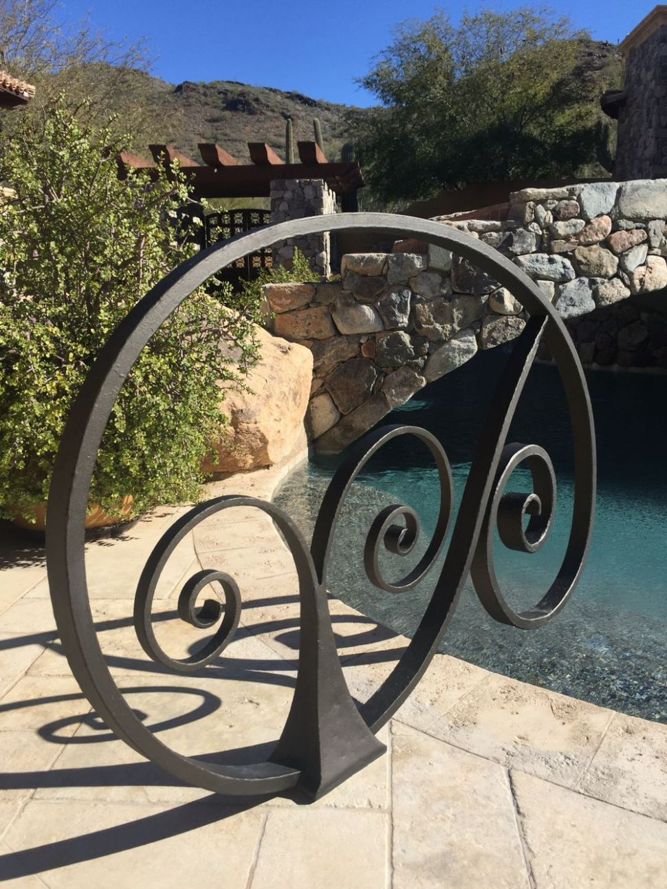 Hand forged iron pool rail (With images) | Pool rails, Pool ..