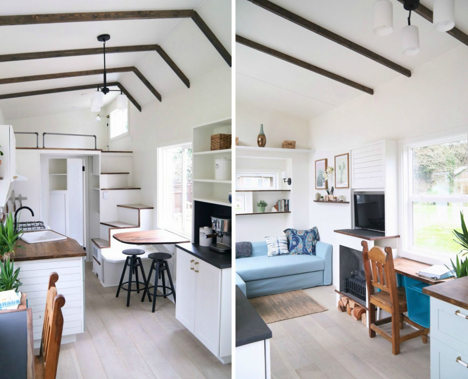 Handcrafted Movement's Coastal Craftsman tiny house is big on ...