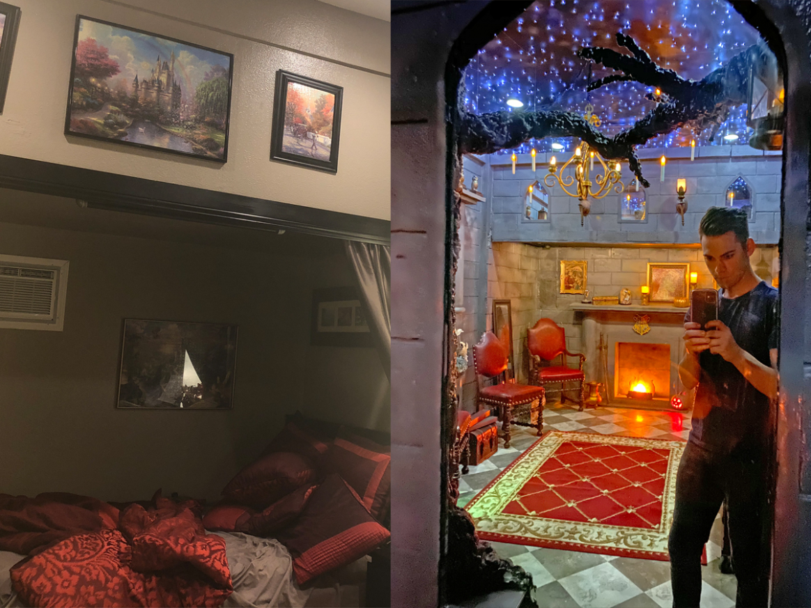 Harry Potter fan turned his room into a scene from JK Rowling's ...