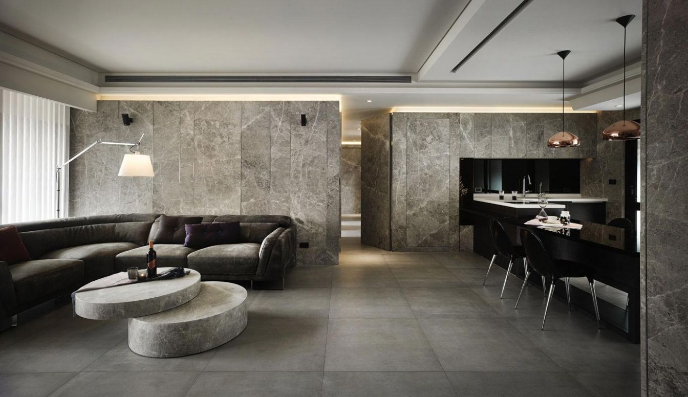 HD Apartment with a lot of marble insertion, a residential project ..