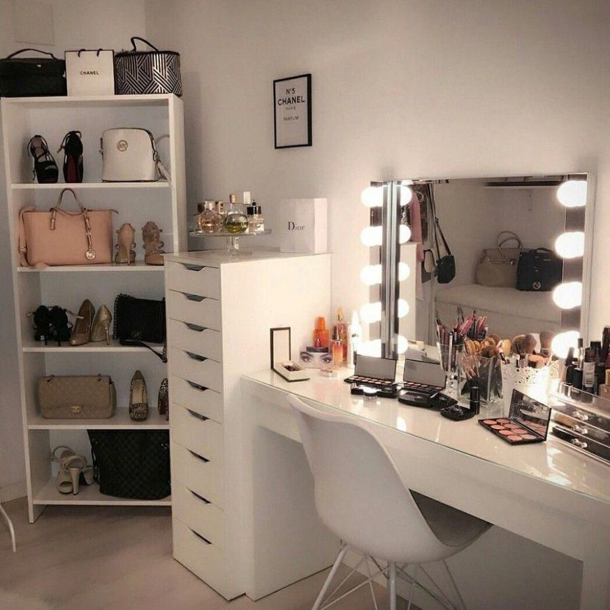 "HEMNES Dressing table with mirror - white 10 10/10x10 10/10 "" in 10 .."