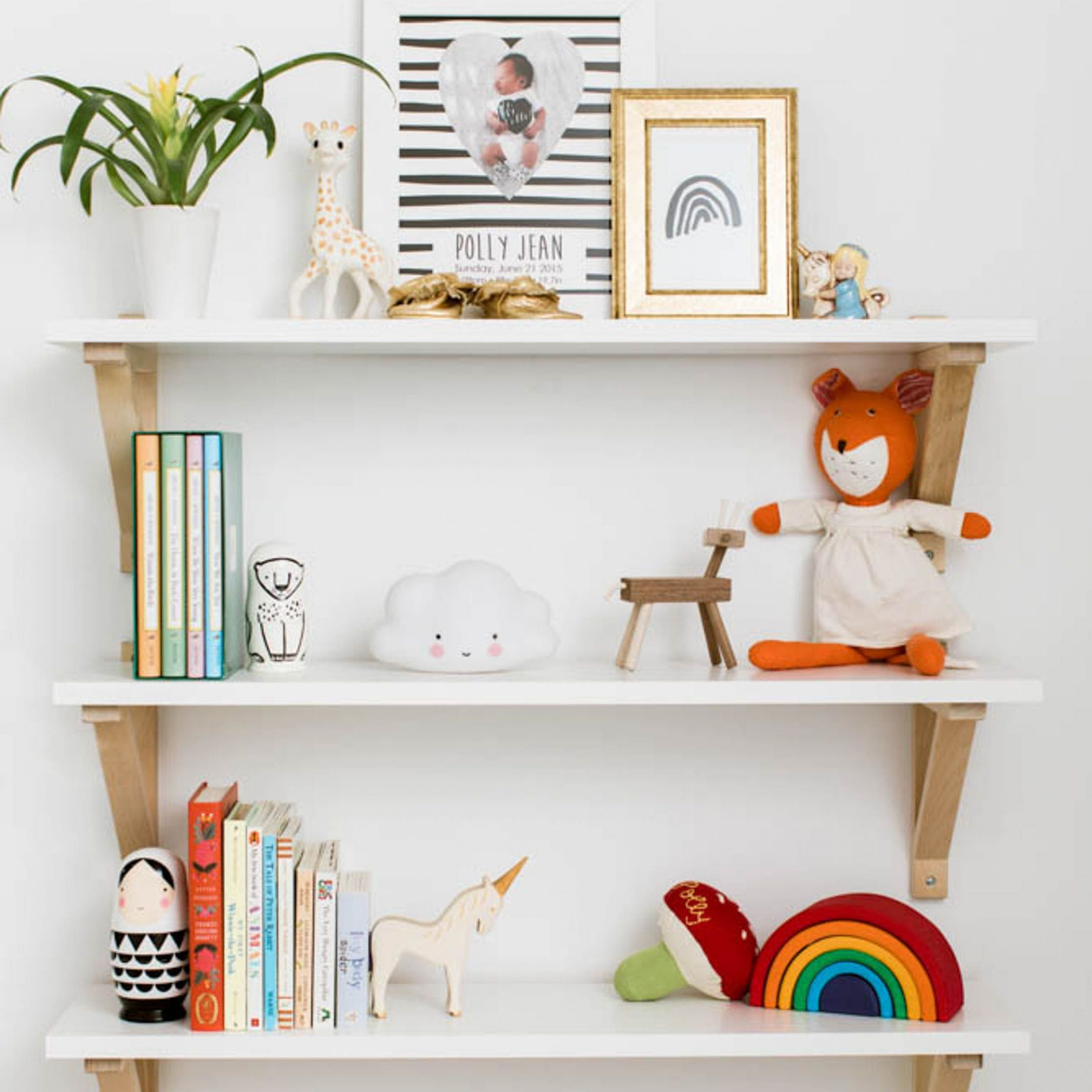 Here's What's Trending in the Nursery | Kids room shelves, Tiny ...