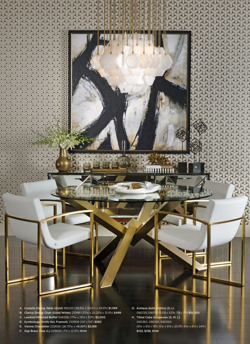 High Fashion Home - Catalog Summer 9 - Page 9-9 | Gold dining ..