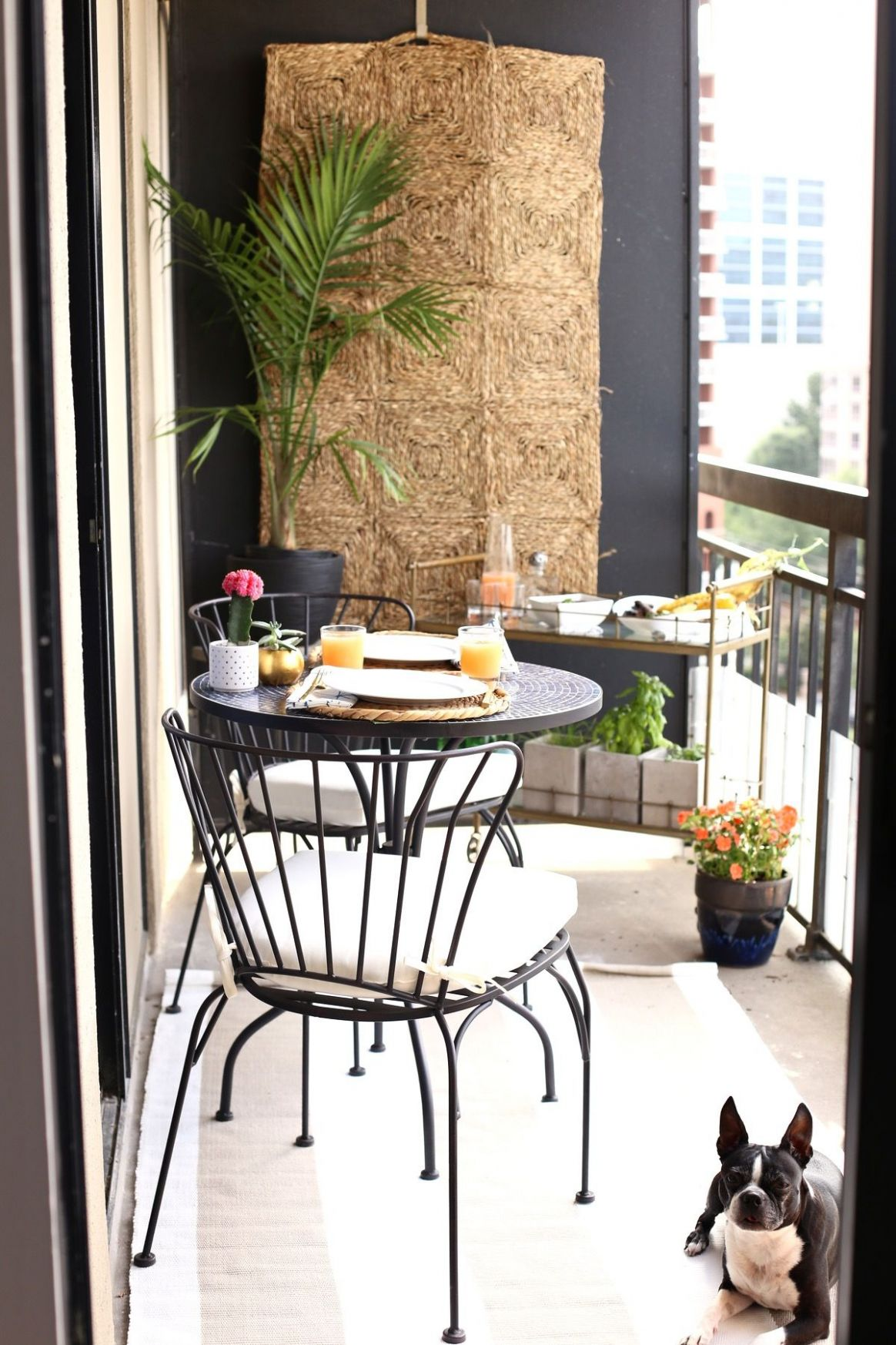 High Rise Patio Ideas (With images) | Small balcony design, Small ...