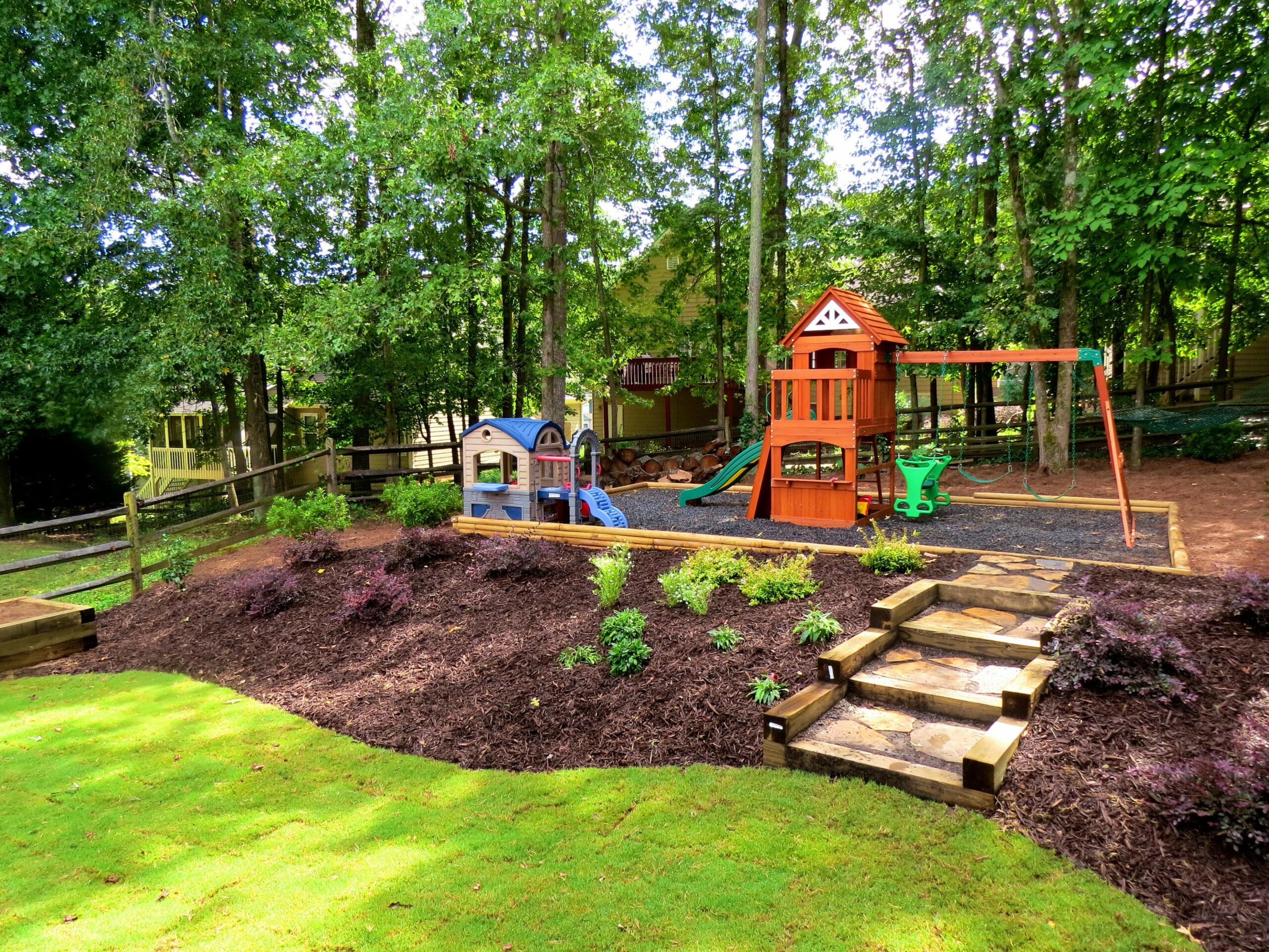 Hill Patio Backyard Ideas Landscape For With Design And Yard ..