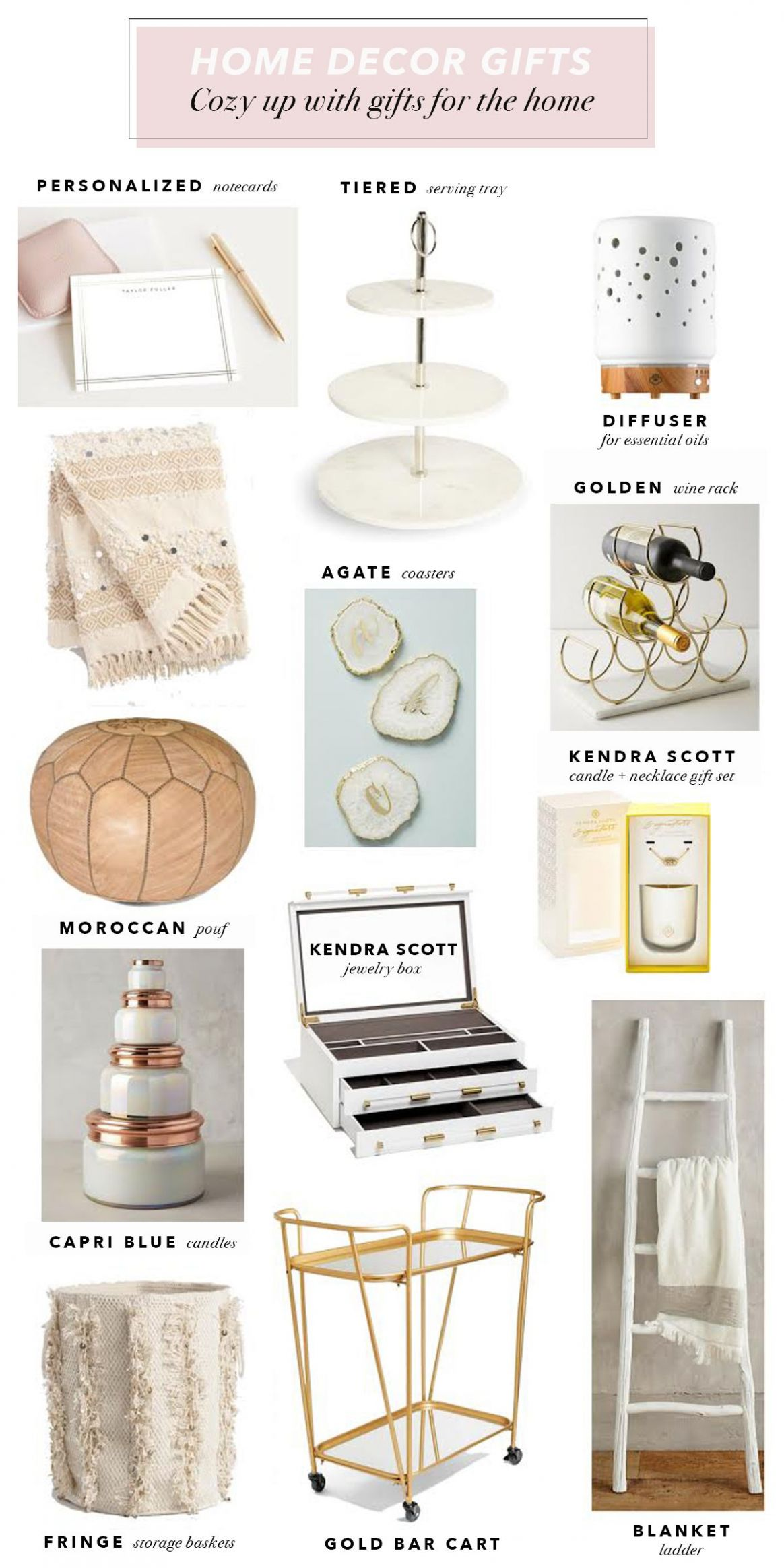 Holiday Home Decor Gift Ideas | Holiday home decor, Decor gifts - home office gift ideas