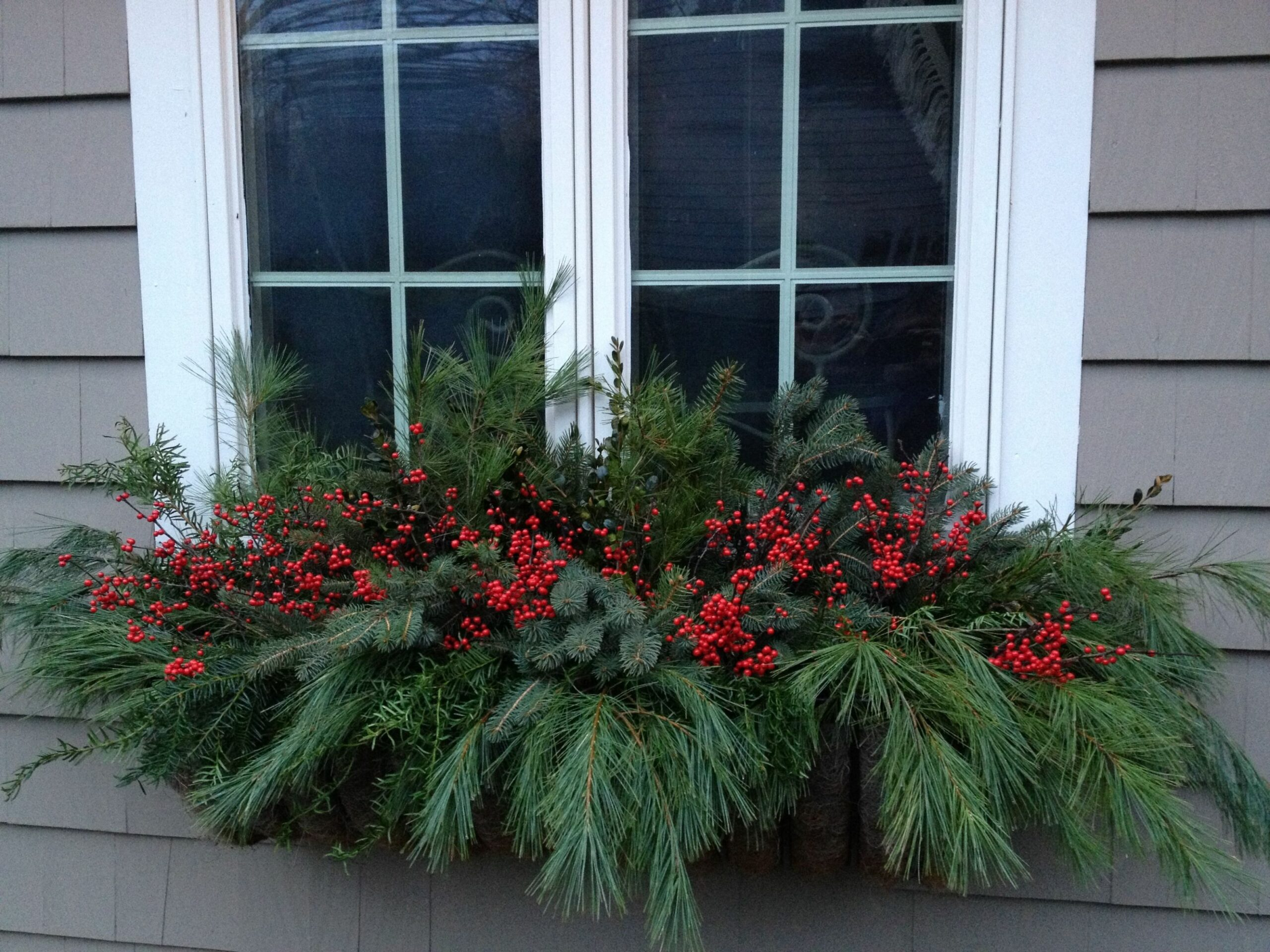 Holiday window box (With images) | Christmas window boxes ..