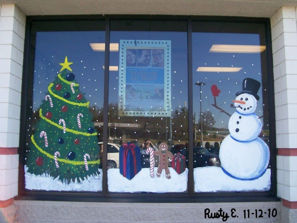 Holiday Window Painting Ideas | Christmas Mural Section 10 by ..