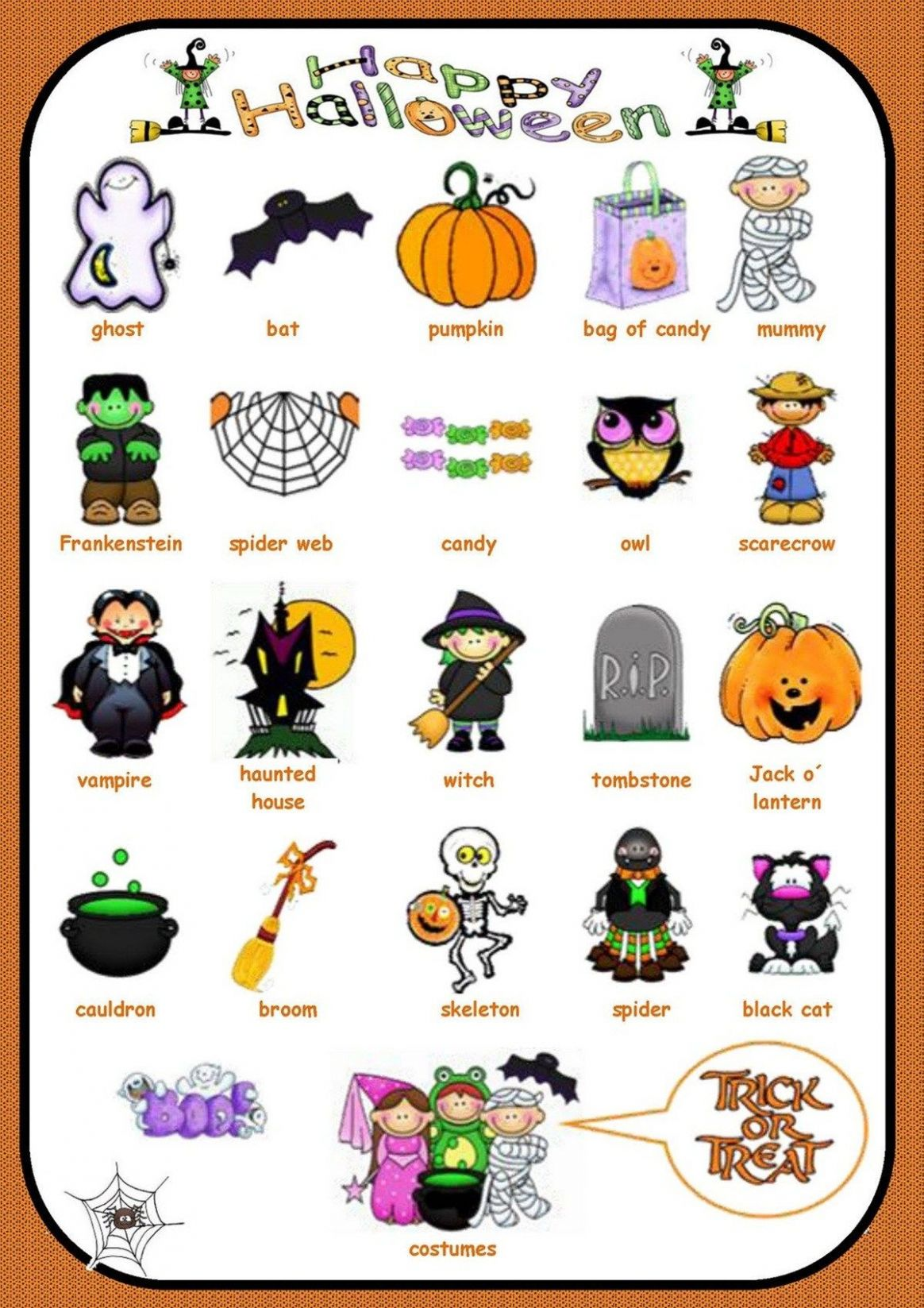 Holidays and Special Events Vocabulary in English | Halloween ..