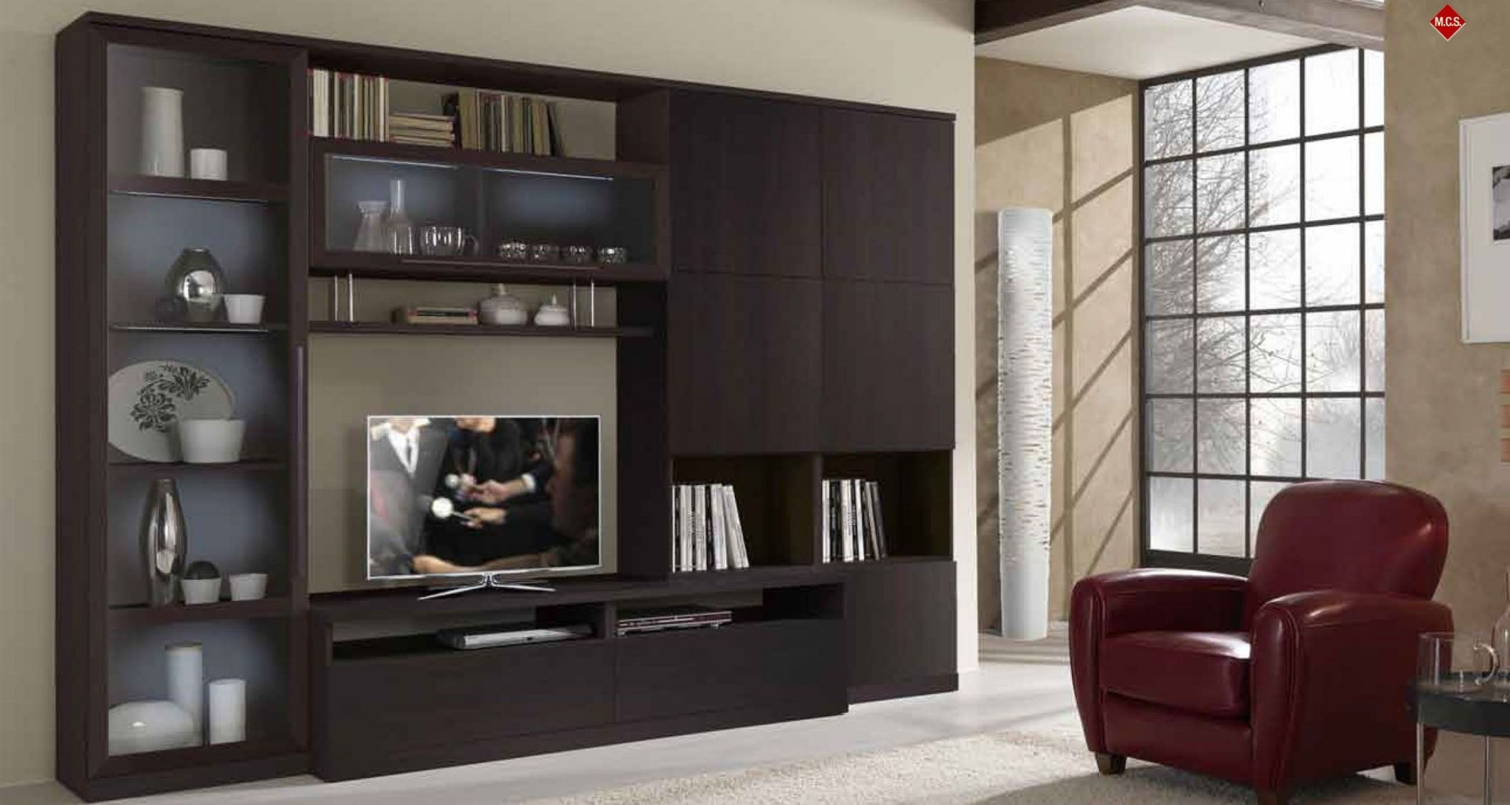 Home Built In Bar and wall unit ideas   Magnificent Living Room ..