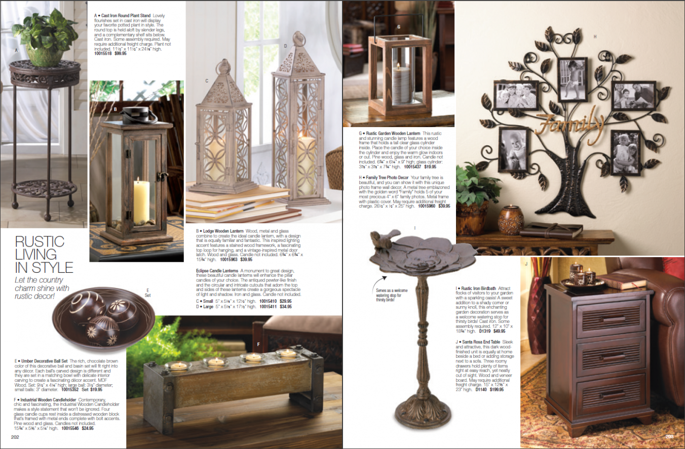 Home Decor Catalogs - A selection of 8 real catalogs of different ..