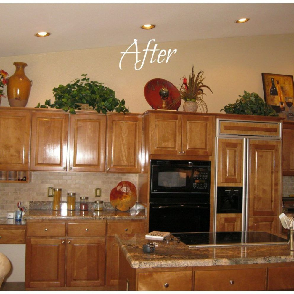 Home Decorating Ideas Above Kitchen Cabinets | Decorating above ..