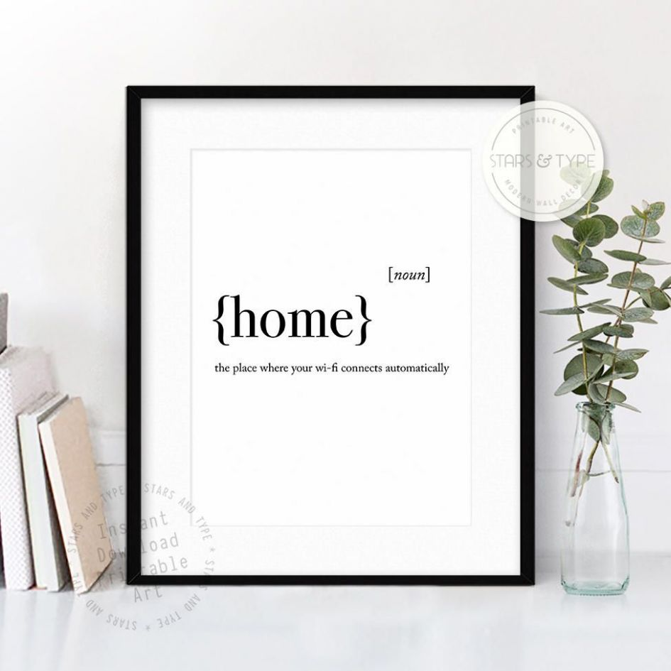 Home Dictionary Definition Meaning, PRINTABLE Wall Art, Funny ...