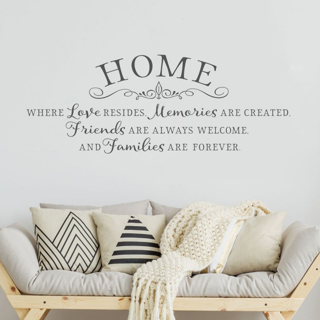 Home is where love resides - Inspiring wall decal - home quotes ...