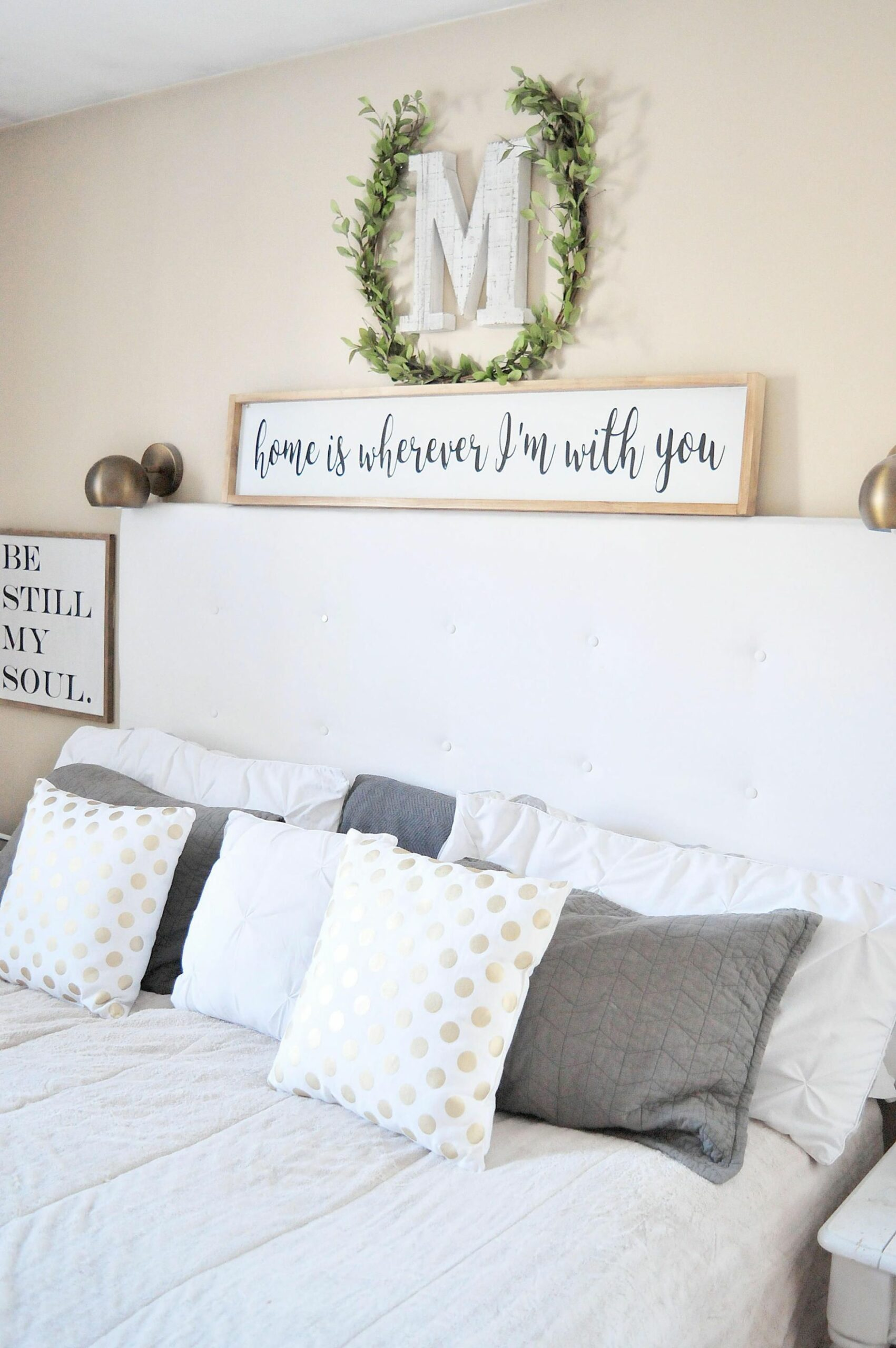 Home Is Wherever I'm With You | Wood Sign | Bedroom | Couple ...