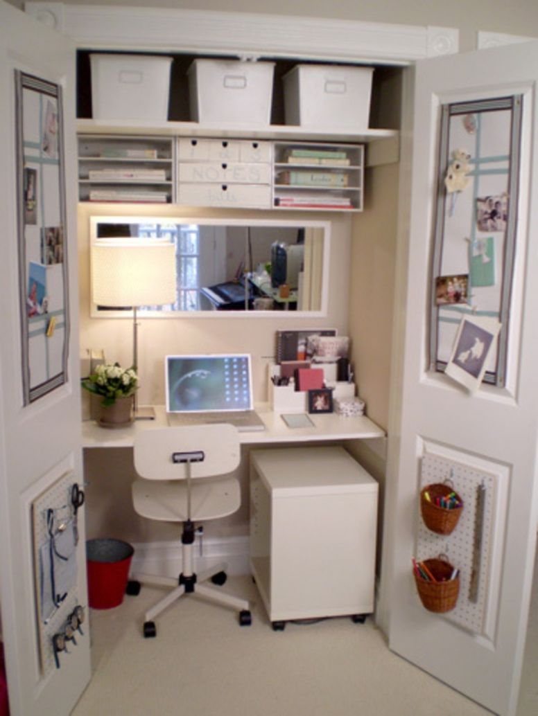 Home Office Bedroom Fair Decorating Ideas For Small Room Interior ..