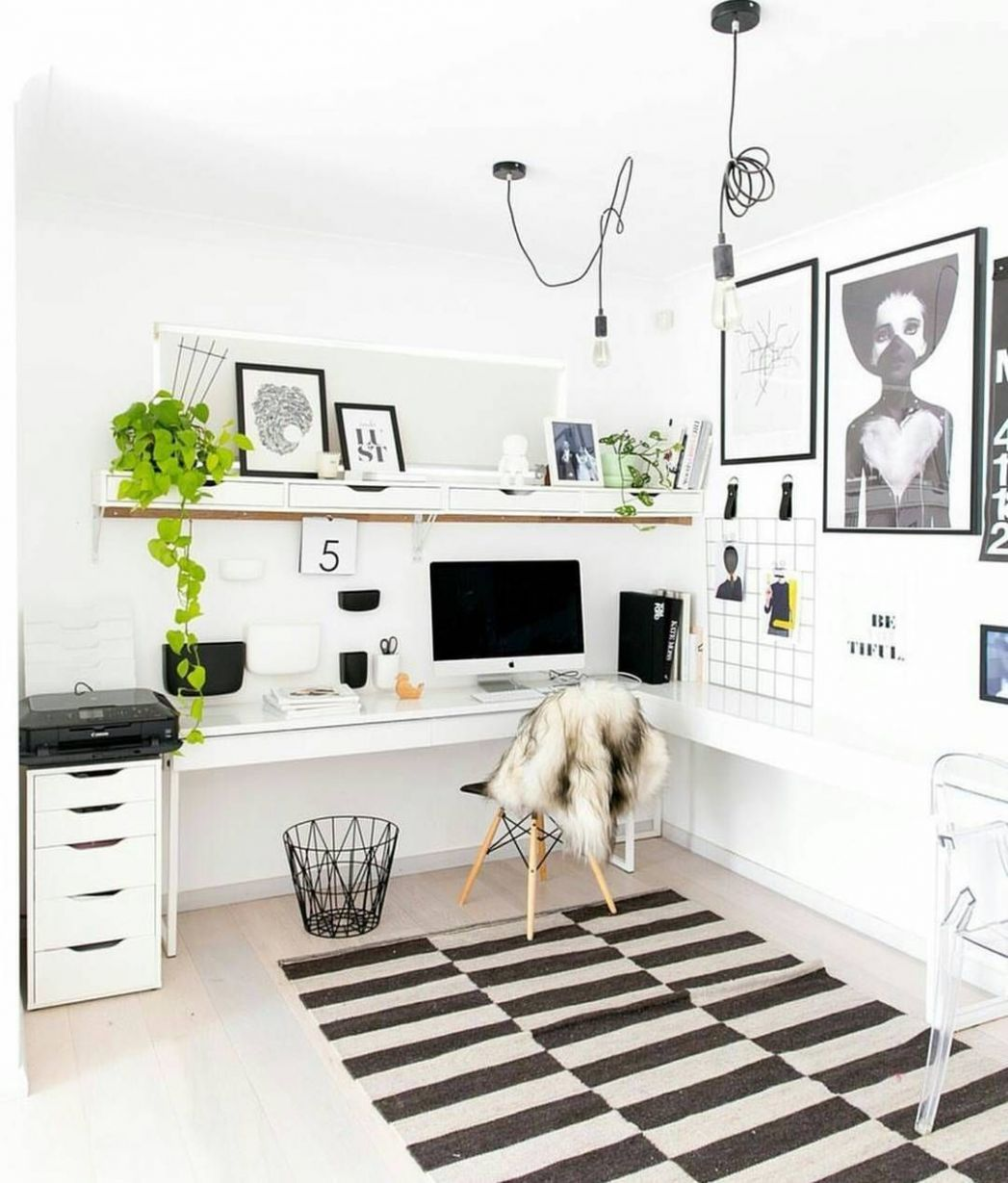 Home office filled with Ikea furniture @hayleygemma | Home office ...