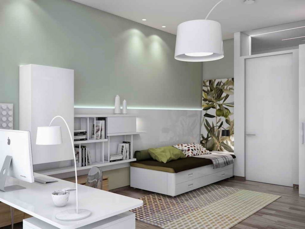 Home Office Guest Bedroom Decorating And Room Ideas Interior ..